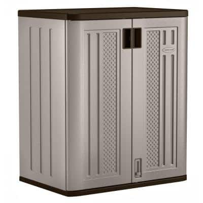 Resin Freestanding Garage Base Cabinet in Platinum (30 in. W x 36 in. H x 20 in. D)