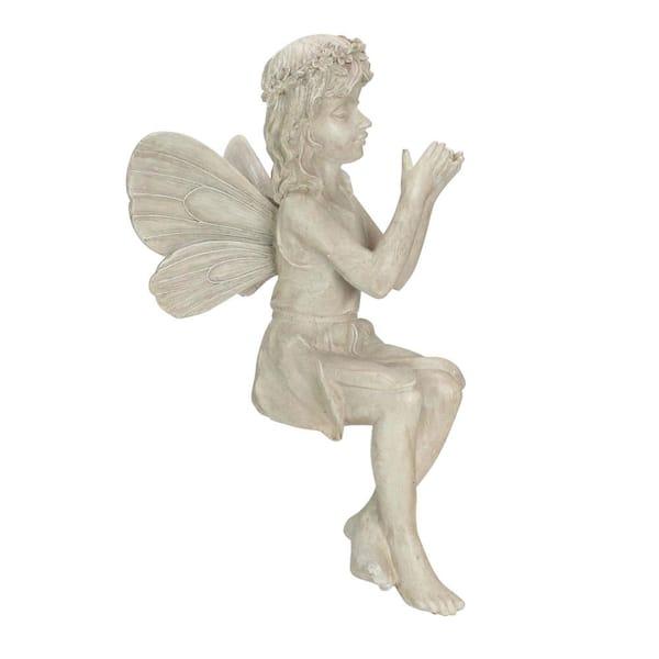 Northlight 17 In Gray Sitting Fairy, Garden Statue Fairy