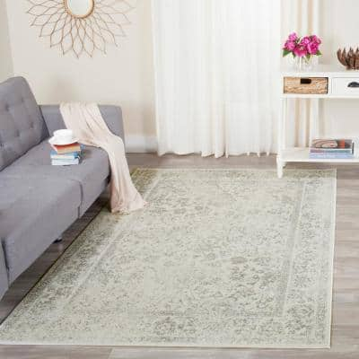 Farrah Ivory/Silver 8 ft. x 10 ft. Area Rug