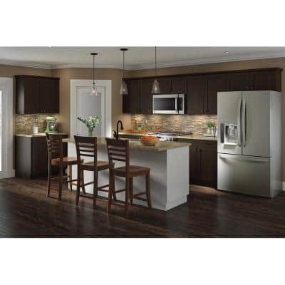 Edson Shaker Assembled 30x30x12.5 in. Wall Cabinet in Dusk