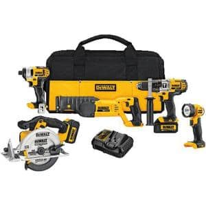 20-Volt MAX Cordless Combo Kit (5-Tool) with (2) 20-Volt 3.0Ah Batteries & Charger