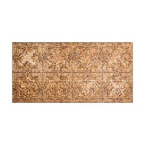 Regalia 2 ft. x 4 ft. Glue Up Vinyl Ceiling Tile in Cracked Copper (40 sq. ft.)