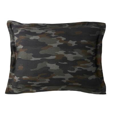 Camouflage Jersey Knit Standard Sham