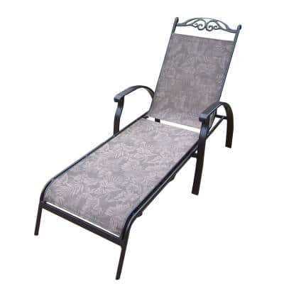 Cascade Aluminum-Framed Foldable Outdoor Sling Chaise Lounge