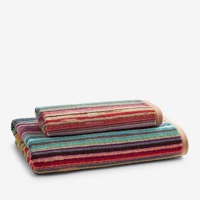 Rhythm Striped Cotton Towel
