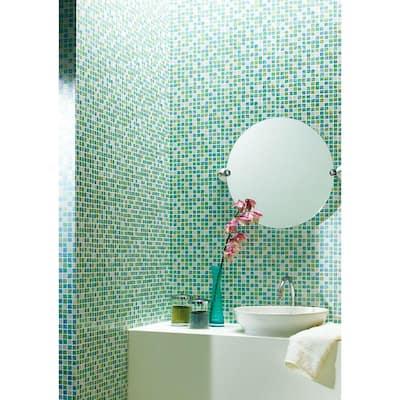 Aegean Aqua Tiles Vinyl Peelable Roll Wallpaper (Covers 56.4 sq. ft.)