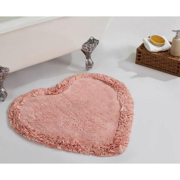 Better Trends Ruffle Pink 30 In X 30 In Cotton Bath Rug Ss Barr30hpi The Home Depot