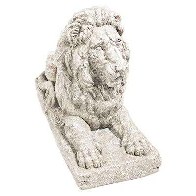 16.5 in. H Lyndhurst Manor Lion Sentinel Statue