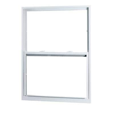 28 in. x 62 in. 50 Series Single Hung White Vinyl Window with Buck Frame