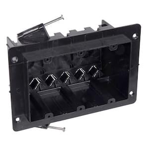 3-Gang 54 cu. in. Black New Work Electrical Box