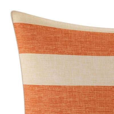 Palmiers 1-Piece Orange Solid Cotton Euro Sham