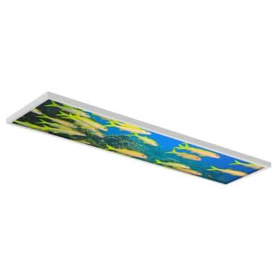 1 ft. x 4 ft. Flexible Decorative Light Diffuser Panels Ocean For Classrooms and Offices Ocean 005