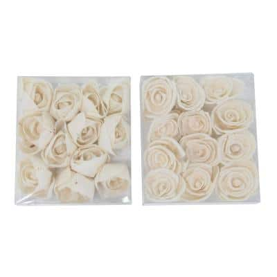 White Sola Boxed Carnation and Ranunculus Flowers (Set of 2)