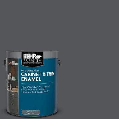 1 gal. #N510-6 Orion Gray Satin Enamel Interior Cabinet and Trim Paint