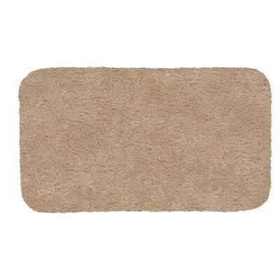 Acclaim Sand 24 in. x 40 in. Nylon Machine Washable Bath Mat