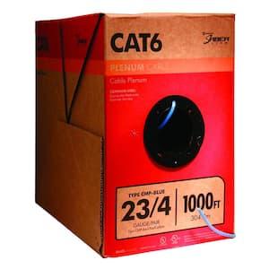 1,000 ft. Blue 23/4 Solid CU CAT6 CMP (Plenum) Data Cable