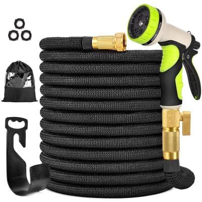 3/4 in. 100 ft. Expandable Garden Hose Flexible Water Hose with 10 Function Nozzle Durable 3750D Water Hose