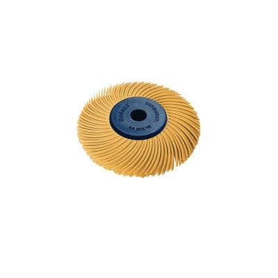 Sunburst 2 in. 3-PLY Radial Discs 1/4 in. Arbor Thermoplastic Cleaning and Polishing Tool, X-Fine 6 Micron (1-Pack)