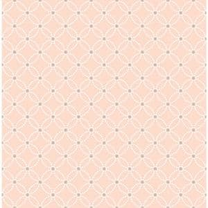 Geffen, Kinetic Salmon Geometric Floral Paper Strippable Wallpaper Roll (Covers 56.4 sq. ft.)