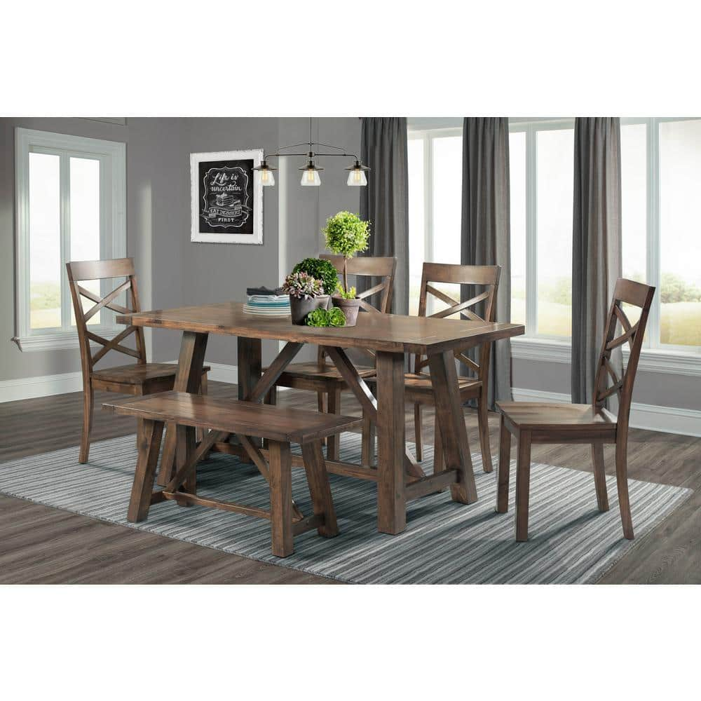 Picket House Furnishings Regan 6 Piece, Dining Room Table And Chairs