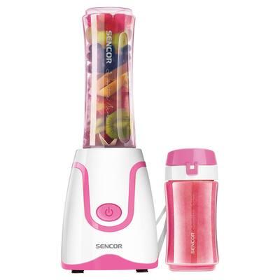 20 oz. Single Speed Pink Smoothie Blender with 2 Bottles