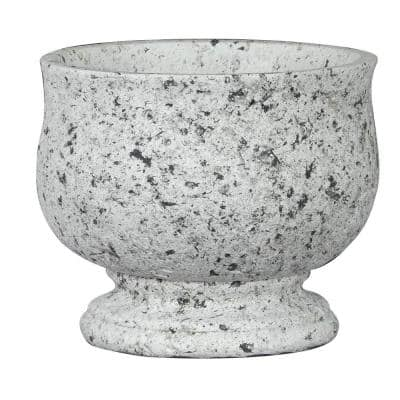 Romulus Urn 7.3 in. W Granite Cement Planter