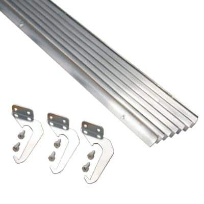 4 in. x 5 ft. Natural Aluminum Finish RH-Plus with Brackets and Screws