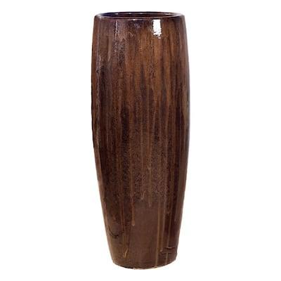 47 in. Java Round Ceramic Cigar Jar/Planter