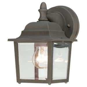 Covington 1-Light Painted Bronze Outdoor Wall-Mount Lantern Sconce