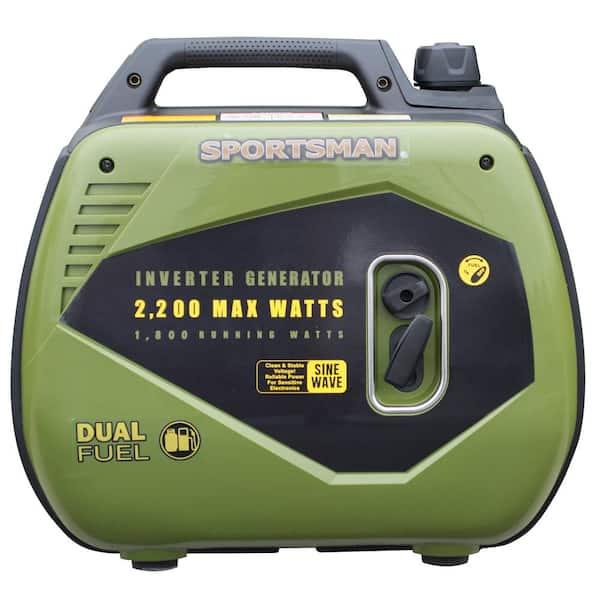 Sportsman 2 200 1 800 Watt Dual Fuel Lpg Gasoline Powered Recoil Start Portable Inverter Generator With Parallel Capacity 803044 The Home Depot