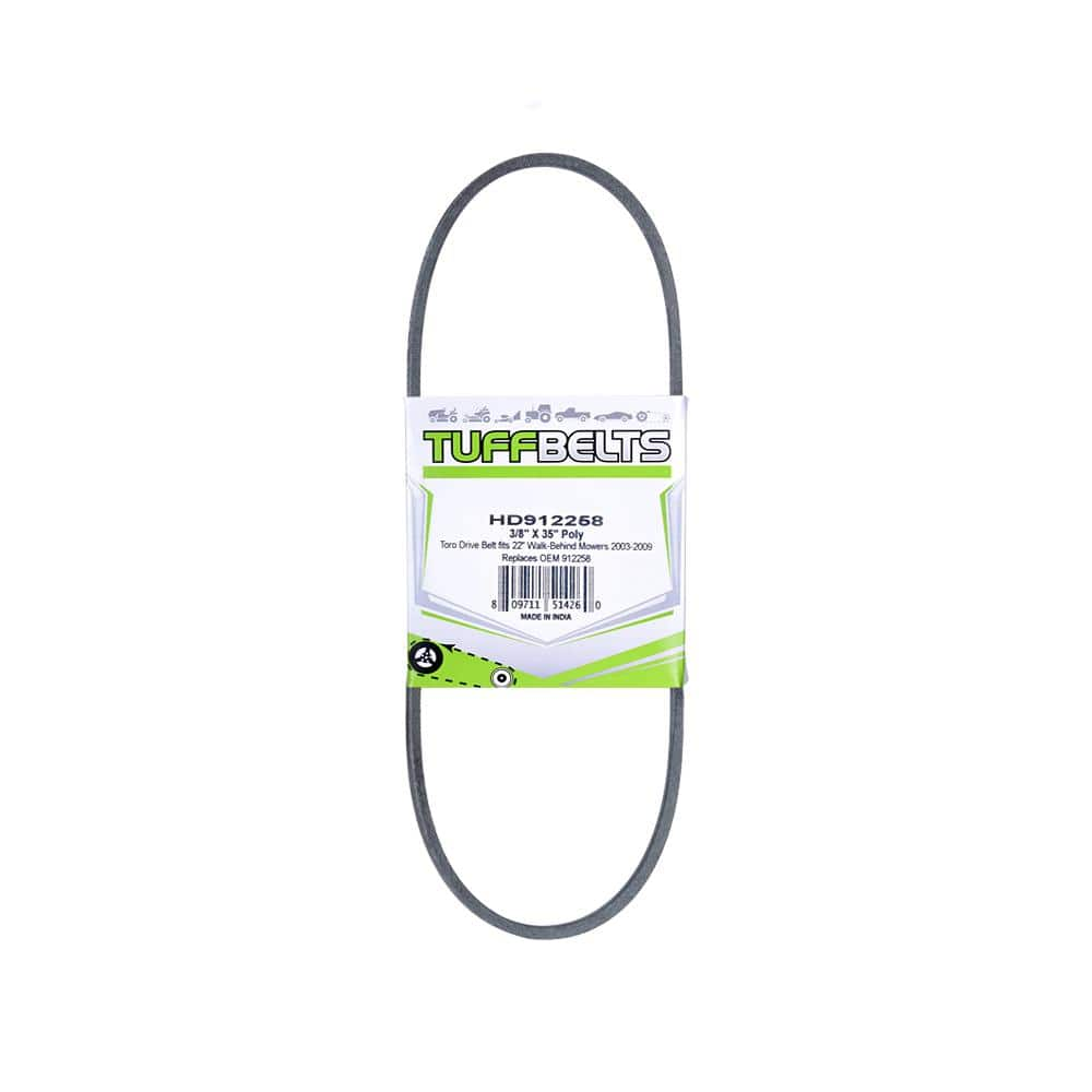 Lawn Tractor Drive Belt Fits 22 In Walk Behind Mowers 2003 2009 Replaces 912258 Hd912258 The Home Depot
