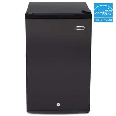 3.0 cu. ft. Energy Star Upright Freezer with Lock in Black