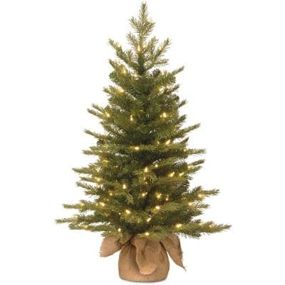 Potted Pre Lit Christmas Trees Artificial Christmas Trees The Home Depot
