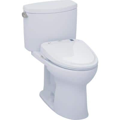 Drake II Connect 2-Piece 1.28 GPF Elongated Toilet with Washlet S350e Bidet and CeFiONtect in Cotton White