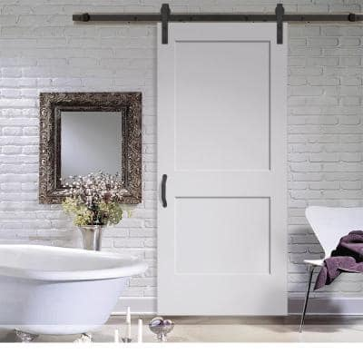 Monroe Primed Smooth Molded Barn Door