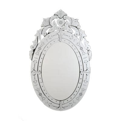 Radiance 26 in. W x 41 in. H Framed Oval Bathroom Vanity Mirror in Clear