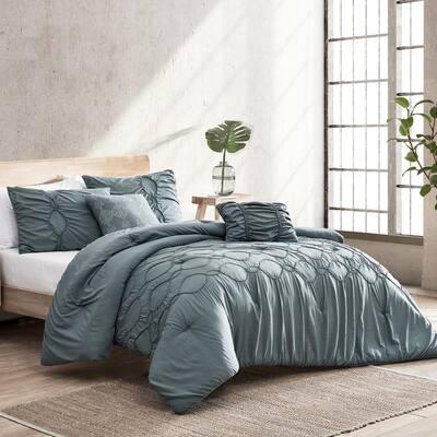 5-Piece Liza Microfiber King Comforter Set
