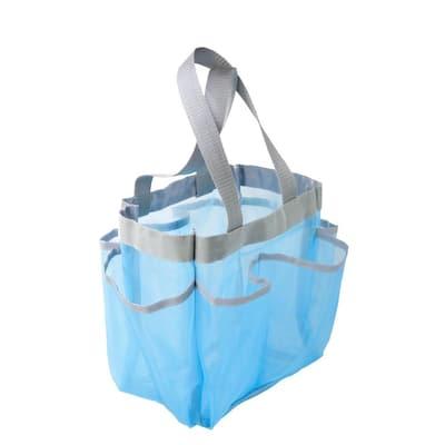 Blue 6-Pocket Shower Tote