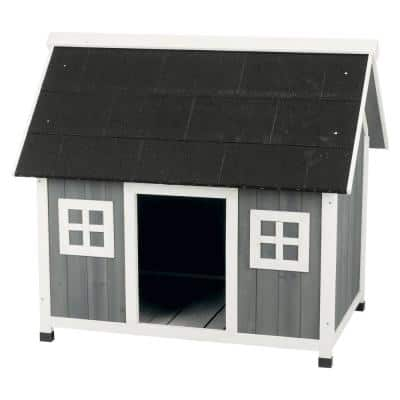 42.75 in. x 31.5 in. x 39.25 in. Barn Style Dog House - Large/X-Large