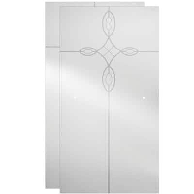 29-1/32 x 55-1/2 in. x 1/4 in. (6 mm) Frameless Sliding Bathtub Door Glass Panels in Tranquility (For 50-60 in. Doors)