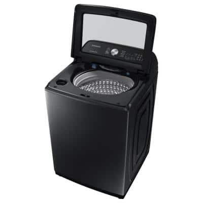 5.0 cu. ft. High-Efficiency Brushed Black Top Load Washing Machine with Active Water Jet, ENERGY STAR