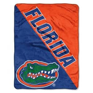 Halftone Florida State University Polyester Twin Knitted Blanket