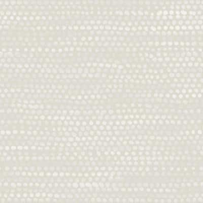 Moire Dots Pearl Grey Peel and Stick Wallpaper (Covers 28 sq. ft.)