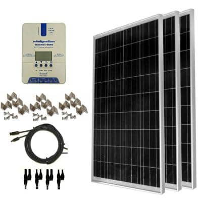 300-Watt Off-Grid Polycrystalline Solar Panel Kit with TrakMax MPPT 40 Amp Solar Charge Controller