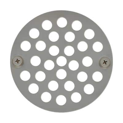 4 in. O.D. Stainless Steel Stamped Round Replacement Drain Strainer