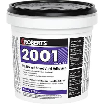 2001 1 Gal. Felt-Backed Sheet Vinyl Flooring Adhesive