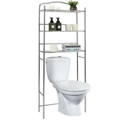 24 in. W x 10.5 in. D x 61 in. H Space Saver in Silver
