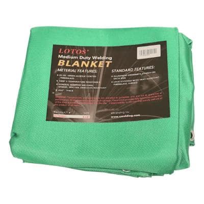 Welding Blanket 6 ft. x 8 ft. Green Acrylic Spatter, Abrasion Resist