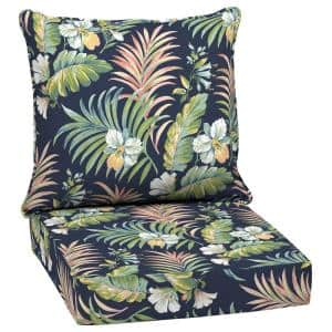 24 in. x 24 in. Simone Tropical Outdoor 2-Piece Deep Seating Lounge Chair Cushion