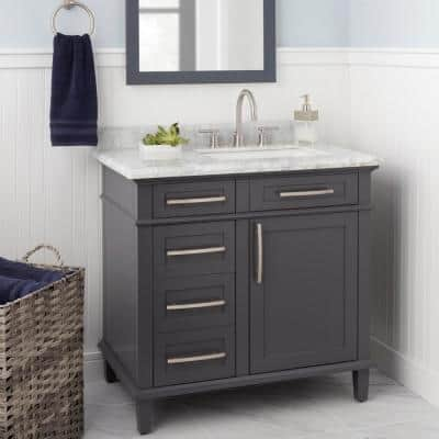 Dorset 8 in. Widespread 2-Handle High-Arc Bathroom Faucet in Brushed Nickel